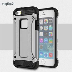 For Case IPhone 5S Cover Anti-knock Silicon + Plastic Armor Case For IPhone 5S Case iphone5 Mobile Phone For iphone 5 SE <