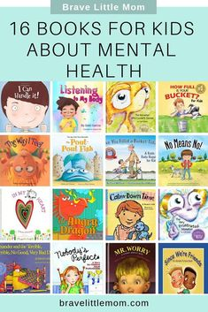 16 Books for Kids About Mental Health - Talking to your kids about mental health is easier when it's part of your daily routine. These 14 books for kids about mental health will keep the conversation and learning going long after the story ends. Mental Health Activities, Kids Mental Health, Children Health, Mental Health Education, Mental Health Programs, Dental Health, Public Health, Kids Education, Coping Skills