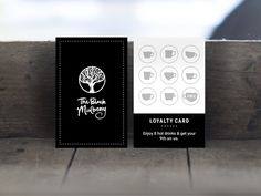 Black Mulberry Cafe - Loyalty Card Design
