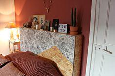 DIY tête de lit osb papier peint