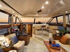 best interior design ideas for luxury yacht charter Fort Lauderdale, Best Interior Design, Interior Decorating, Decorating Blogs, Luxury Yacht Interior, Sailboat Interior, Sailboat Decor, Small Yachts, Miami