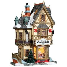 "Lemax Porcelain Lighted House Village Tannenbaum Christmas Shoppe 11.5"" H X 7.2"" ** Click on the image for additional details."