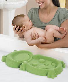 Love these! Green Froggy Bath Sponge on #zulily! #zulilyfinds