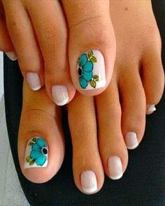 Toe nail art is one of the best ways to make your feet look sexy and interesting. If you are fond of nail art and manicure. Pretty Toe Nails, Cute Toe Nails, Gorgeous Nails, Love Nails, Diy Nails, Pretty Toes, Pedicure Designs, Pedicure Nail Art, Toe Nail Designs