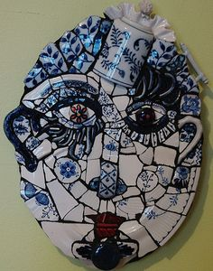 ONe of my favourite pieces of art! Mosaic Face by TheBackburner on Etsy, $250.00