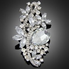 Jewelry 2016 New Fashion Crystal Flower Brooch Beautiful Design Colorful Rhinestone Brooches For Women Wedding & Party♦️ SMS - F A S H I O N  http://www.sms.hr/products/jewelry-2016-new-fashion-crystal-flower-brooch-beautiful-design-colorful-rhinestone-brooches-for-women-wedding-party/ US $2.71