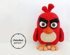 Crochet Game, Star Wars Crochet, Red Angry Bird, Angry Birds, Amigurumi Patterns, Crochet Patterns, Bb8, Key Covers, Stuffed Toys Patterns