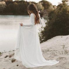 Beach Bridal Dresses, Western Wedding Dresses, Long Wedding Dresses, Bridal Gowns, Party Dresses, Wedding Gowns, Maxi Dresses, Country Style Wedding Dresses, Sleeved Wedding Dresses