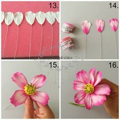 Sugar flowers cake cosmea lavender hydrangeas and lilacs out of sugarpaste gumpaste craftsy com cake decorating ideasThis cake decorating tutorial covers how-to's behind making cute cosmos flowers in any Satin Ice gum paste color.How to use gum paste