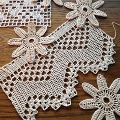 Crochet Lace / Bits n' Pieces / Antique Lace by ArtisticNeedleWork https://www.etsy.com/listing/208128520/crochet-lace-bits-n-pieces-antique-lace?ref=shop_home_active_5