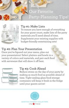 Got entertaining angst? Stress less with our favorite party planning tips and essentials from the #MarthaStewartCollection!
