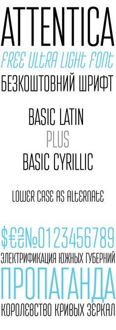 Attentica - Free Font. License: declared as FREE, no proper license given.