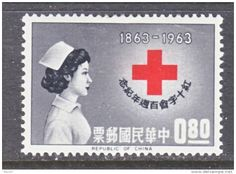 Rep. of China Red Cross Nurse postage stamp