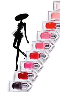 Guerlain La Petite Robe Noire Nail Color, launching in the US for summer 2016 Nail Salon Design, Nail Salon Decor, Burgundy Walls, Red Burgundy, Parfum Guerlain, Guerlain Paris, Nail Logo, Red Hair Color, Color Red