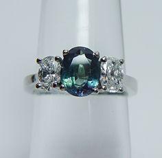 Diamond and alexandrite ring.