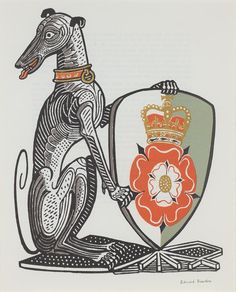 The White Greyhound of Richmond from 'The Queen's Beasts' by Edward Bawden (1954)