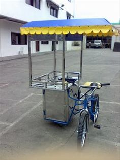 food cart  | food cart, stainless steel food cart with bike, mobile food cart