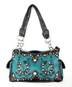 Another great find on #zulily! Turquoise Embellished Horseshoe Shoulder Bag #zulilyfinds