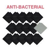 (15 Pack) mimogram Anti-Bacterial Microfiber Cleaning Cloths For LCD TV Screens , iPad, iPhone, Smart Phone, Tablets, Laptop, Lenses and All Touch Screen Surfaces. Made In Taiwan (14 Black , 1 Grey)