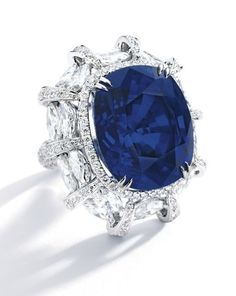 "An Important 38.88ct Burmese ""Royal Blue"" Sapphire and Diamond Ring"