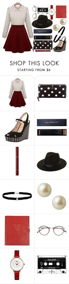 """""""Stay classy."""" by lottie2004 ❤ liked on Polyvore featuring Kate Spade, Tory Burch, Sloane Stationery, Kevyn Aucoin, Lack of Color, Amanda Rose Collection, Carolee, Smythson, Garrett Leight and classy"""