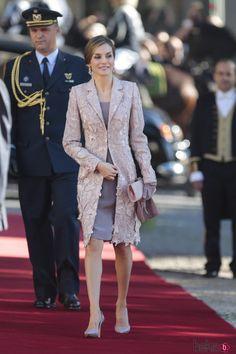 La Reina Letizia llega a Oporto para su Visita de Estado a Portugal