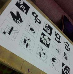 Black & White alphabets composition
