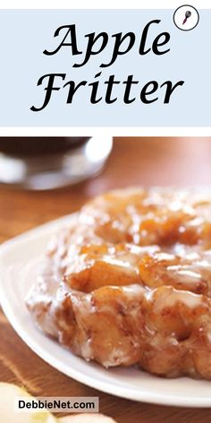 These apple fritters are the BEST Top with a dusting of powdered sugar cinnamon and sugar or my favorite a yummy vanilla glaze Apple Fritter Recipes, Apple Fritter Bread, Apple Dessert Recipes, Köstliche Desserts, Donut Recipes, Baking Recipes, Delicious Desserts, Yummy Food, Baked Apple Fritters