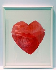 Heart Lips (II) by Lisa Ekström for RH Signature Co. www.rhsignature.com Also available as a t-shirt!