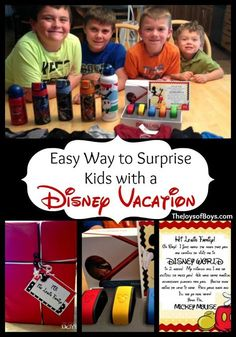 Planning a surprise Disney vacation? Learn how to properly surprise your kids with it! They'll love it and you'll enjoy seeing their faces when they figure it out!