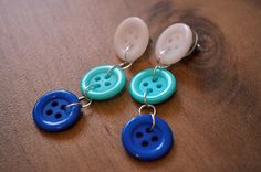 earrings+made+from+buttons   How I Made Button Earrings (It's Easy!)