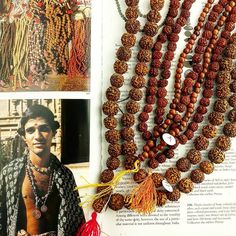 """Diving into our textbooks today researching the sacred Rudraksha seeds of India.  """" The utrasam tree is sacred to Ruda, the Vedic god of storms and especially to Shiva, with whom Ruda is identified. Such rosaries are also used in other deity worship."""" - Tradition Jewelry of India ."""
