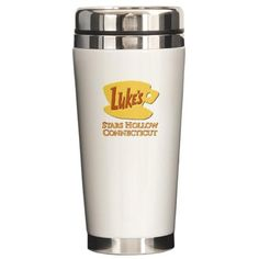 MOM THIS IS SO ON MY CHRISTMAS LIST!!!!! Luke's Diner Stars Hollow Gilmore Girls Travel Mug