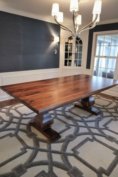 Browse the selection of custom pedestal tables with belly and anchor supports from Rustic Elements Furniture. Dinning Room Tables, Walnut Dining Table, Wooden Dining Tables, Dining Room Sets, Pedestal Tables, Kitchen Tables, Rustic Decor, Kitchen Decor, Interior Decorating
