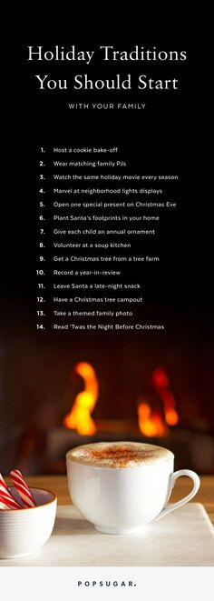 christmas traditions 14 Holiday Traditions You Should Start With Your Family This Year Traditions To Start, Holiday Traditions, Family Christmas Traditions, Thanksgiving Traditions, Winter Holidays, Winter Christmas, Christmas Ideas, Xmas, Happy Holidays