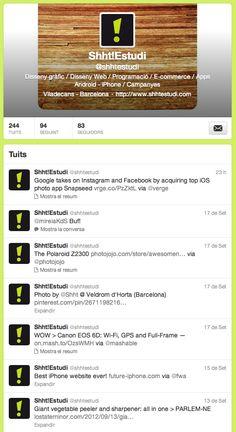 New Twitter Profiles. www.twitter.com/Shhtestudi