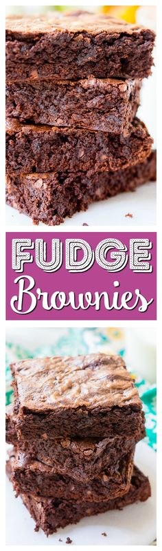 These classic Fudge Brownies are loaded with rich, deep, chocolate flavor and have a crisp top and fudgy center and are sure to be loved by everyone! via @sugarandsoulco