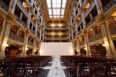 The George Peabody Library in Baltimore, would love this as a wedding venue