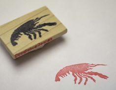 Crawfish Handcarved Stamp by doodlebugdesign on Etsy, $12.00