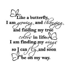 EYE CANDY SIGNS Like A Butterfly....Wall Expressions Words Quotes... ($22) ❤ liked on Polyvore
