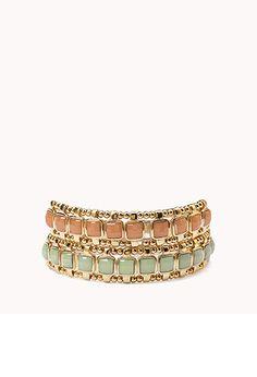 Faceted Stretchy Bracelet Set | FOREVER 21 - 1015765019 #F21CRUSH