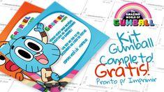 O tema O Incrível Mundo de Gumball chegou para ficar, baixar o lindo kit grátis com mais de 100 moldes e convites para fazer uma festa personalizada