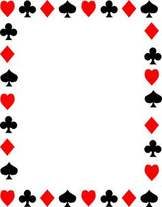 free clip art of red and black playing card suits spades hearts rh pinterest com playing card clip art template free playing cards clipart