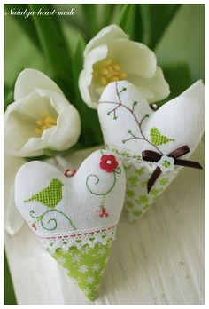 Pincushions or could be filled with lavender, attach a loop and hang it on one of your coat hangers in your wardrobe.