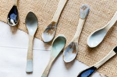 Handmade Ceramic Spoons - Set of Four - Made to Order