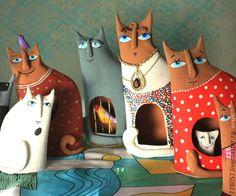 Коты-Человеки - купить или заказать в интернет-магазине на Ярмарке Мастеров | Мои коты это человеки, надо только…
