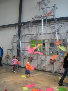 Pheonix Children's Museum AZ- this contraption is AWESOME!! Miss H {3} had to be DRAGGED away as it was in the first room we entered (along with the 3 storey treehouse!! which kept Miss C{9} & Master J{5} sufficiently busy)  The BEST kids museum we've been to so far!