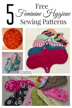 Sewing Clothes Patterns 5 Free Feminine Hygiene Sewing Patterns- Cloth menstrual pads are frugal and eco-friendly. Learn more and try these 5 free feminine hygiene sewing patterns. Diy Sewing Projects, Sewing Projects For Beginners, Sewing Hacks, Sewing Tutorials, Sewing Crafts, Sewing Tips, Feminine Pads, Reusable Menstrual Pads, Mama Cloth