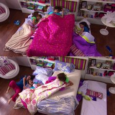 Camila, Francesca, & Violetta at a sleepover