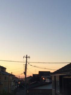    冬 朝焼け 素材として使用可    December 02 2015 at 08:47PM     nagamel.tumblr.com
